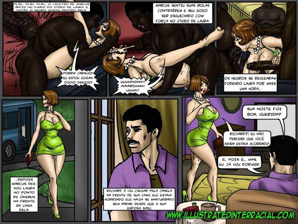 No Fundo do Ônibus... - Histórias em Quadrinhos - HQ de Sexo