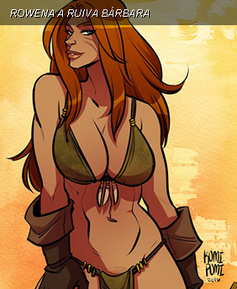 Rowena: A ruiva bárbara